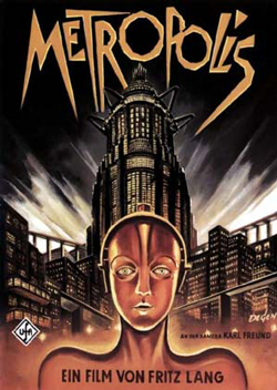 Locandina originale di Metropolis